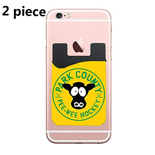 South Park Cows Pee Wee Hockey Card Secure Holder Stick on PU Wallet Pouch Support iPhone Or Android Smartphones
