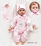 20' 50 Reborn Realistic Reborn Baby Dolls Look Real Girl Soft Silicone Vinyl Reborn Toddler Baby Doll Realistic Real Lifelike Looking Newborn Dolls Baby Girl Toy Best Xmas Gift