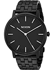 Nixon Mens Porter Quartz Stainless Steel Watch, Color:Black (Model: A1057756-00)