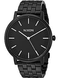 Nixon Men's 'Porter' Quartz Stainless Steel Watch, Color:Black