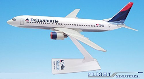 Delta Shuttle (00-07) 737-800 Airplane Miniature Model Plastic Snap-Fit 1:200 Part# ABO-73780H-022 (200 Snap Fit Model)