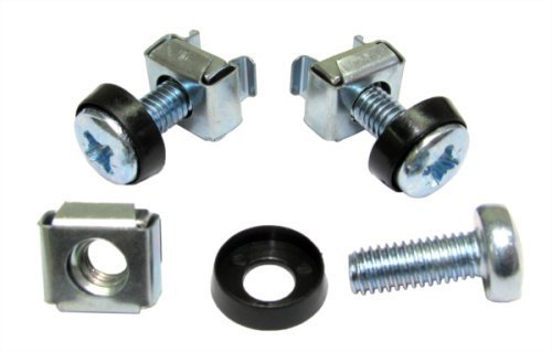 World of Data - 50 Pack - M6 Cage Nuts, Bolts & Washers - For Rack Mount Equipment - x50 Qty