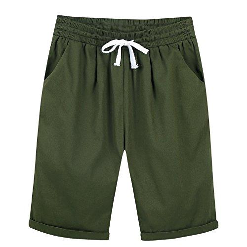 政権心配するオフェンスUpal レディースのズボン パンツ ミディアムパンツ コットン 無地 巾着