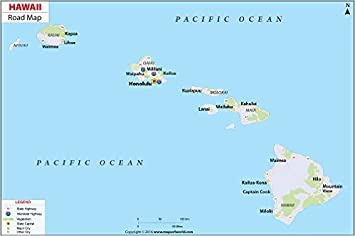 Amazoncom Hawaii Highway Map 36 W x 2392 H Office Products