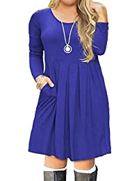 Women's Plus Size Casual Long Sleeve Pleated T Shirt...