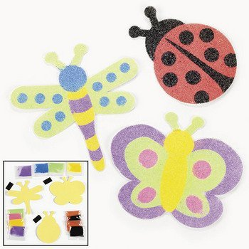 Bug Magnet Sand Art Craft Kits (1 dz) (Magnet Sand)