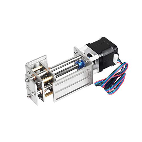 FISTERS CNC Z Axis Slide Table 3 Axis 60mm Milling Linear Motion Long Stage Actuator Stepper Motor