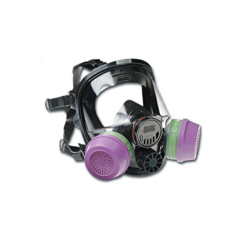 Encon Safety 760008A North 76008A Silicone Full Facepiece, Medium/Large Full Mask, Black/Purple