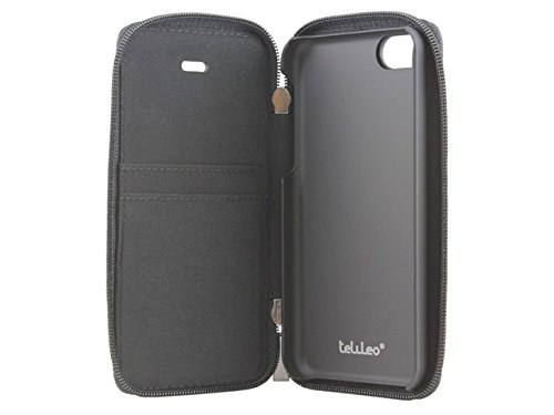 Telileo 3632 Zip Case für Apple iPhone 5C Zero schwarz
