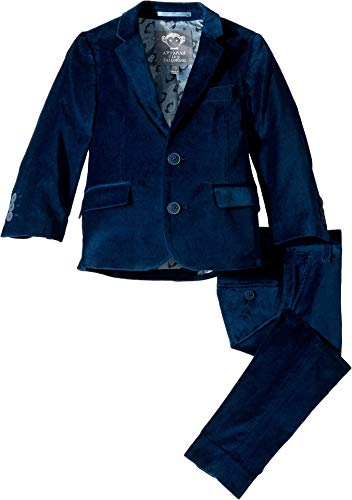 Appaman Kids Baby Boy's Two-Piece Mod Suit (Toddler/Little Kids/Big Kids) Seaport Velvet 3]()