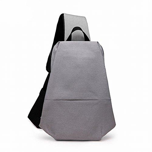 Leinwand Brust Männlich Casual Diagonal Umhängetasche Kreative Multifunktionale Männliche Brust Tasche , schwarz
