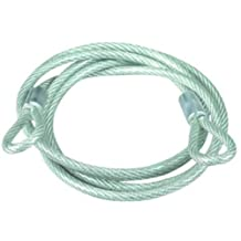 Master Lock 67D Woven Steel Cable with Strong Looped Ends, 6-Feet