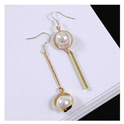 Optional Love Pearl Long Stick Needles Geometric Star Flower Earrings Earring Dangler Eardrop Wooden (Baguette Tassel Earrings Long Section