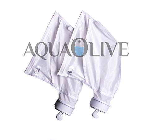 AquaOlive - (2 Pack) Fits Polaris 280 480. Nylon Mesh Pool Cleaner VELCRO Bag . Extra Large Volume - Super Strong Cross Stitching. K13 , K16 . Oversized Replacement Filter Bag