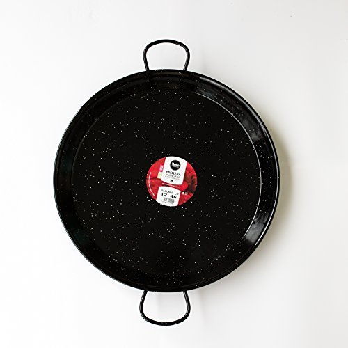 Paella Pan Enamelled Carbon Steel 18 Inch / 46cm / Serving 12 people by Castevia Imports Vaello (Image #1)