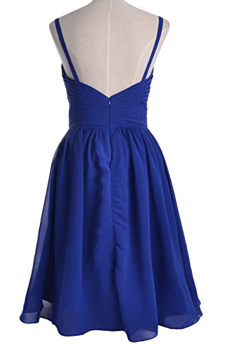 Wedding Spaghetti Formal Straps Short Dress Grau MACloth Party Bridesmaid Gown xqgXR0Xwd