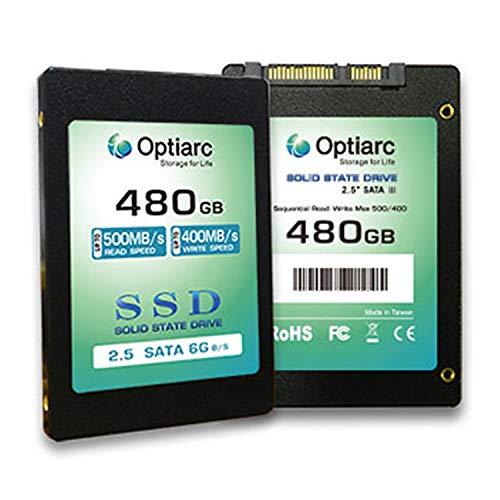 Optiarc SSD 480GB Internal Solid State Drive - SATA III 6 GB/s ...
