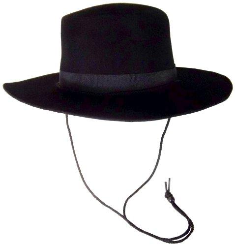 Jacobson Hat Company Wool Felt Spanish, Black, Large/X-Large -