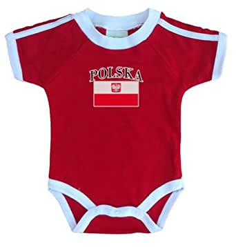 PAM GM Poland Bodysuit With Flag Print 3 Months