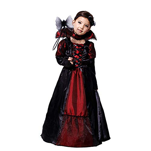 Robes Costume Enfants Noir Decoration Vêtements Imprimer Cosplay Angelof Filles Tenues Halloween qI0wxEB