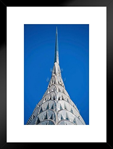 Poster Foundry Chrysler Building New York City Photo Art Print Matted Framed Wall Art 20x26 inch