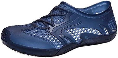 穴の靴カジュアル野生のビーチの靴の潮のブランドの海辺のサンダルの潮のファッション、豚のケージの靴男性の夏(青) ポータブル (色 : Blue, Size : US13)