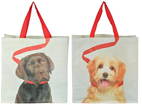 Esschert Design TP196 Shopping Bag Dog on Leash Assortment ()