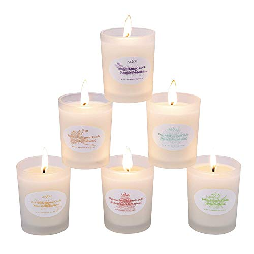 Anjou Scented Candle 6 Pack Gift Set, Aromatherapy Set of Fr