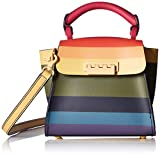 ZAC Zac Posen Eartha Iconic Mini Top Handle Rainbow Stripe