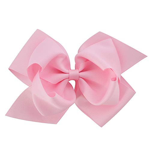6 Inch Girls Large Double Layers Hairbow Baby Hair Bows Grosgrain Ribbon Clips