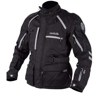 A.R.C. Battleborn Adventure Foul Weather Motorcycle Jacket - BLACK - LARGE - Includes free neck gaiter.
