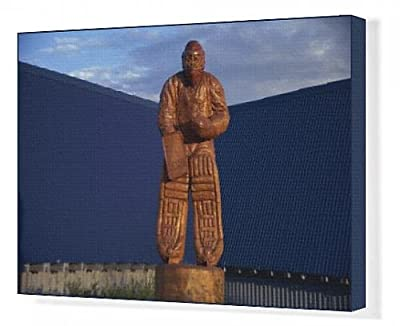 Canvas Print of Chainsaw sculpture by Glenn Greensides, Grouse Mountain, Vancouver, British