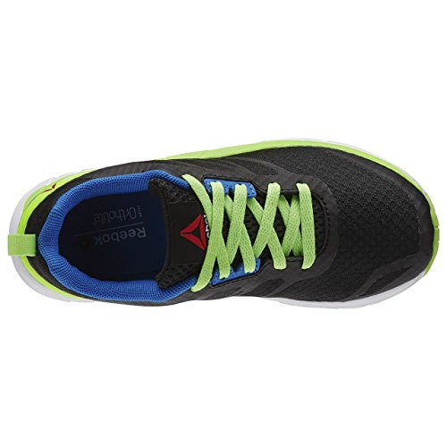Reebok Soquick Zapatillas de deporte, Niños Negro / Verde / Azul / Blanco (Black/Solar Green/Blue Sport/White)