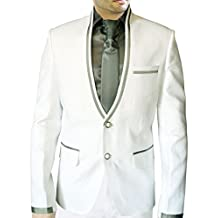 INMONARCH Mens Handsome White Linen Suit LS29