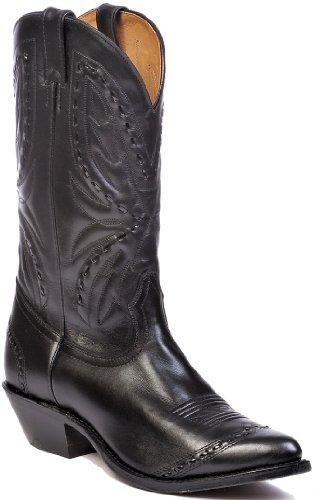 Boulet Mens Whipstitched Cowboy Boot Svart Oss
