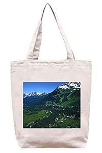 En la Base de la aldea de montaña en Alaska - lona del algodón bolso de mano