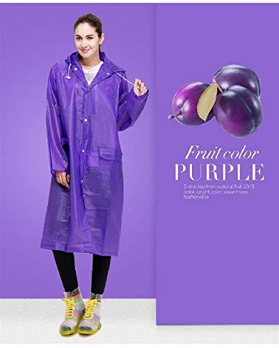 Cordons Fille Classique Unie Cordon Avant Des Poches Capuche Avec Couleur Pluie De Violet Imperméable À Manteau Femmes Veste qxwa0v7p