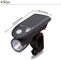 AVAWAY Solar Luz para Bicicleta Kit, Conjuntos de USB Faros ...