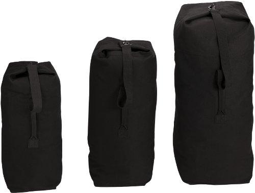 Rothco Top Load Canvas Duffle Bag, 25'' x 42'', Black
