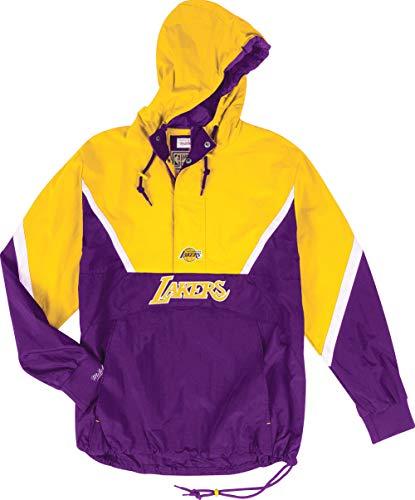 Mitchell & Ness Los Angeles Lakers Half Zip Anorak Jacket Windbreaker NBA HWC Jacke(XXL,Yellow)