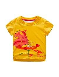 Dinlong Infant Baby Boys Clothes Cartoon Dinosaur Print Tops T Shirt Tee Blouse