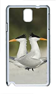 ICORER Soft Samsung Galaxy Note 3 Case Terns Marriage Dance Cool Samsung Note 3 Cases PC White Case for Samsung Galaxy Note 3 /SIII /I9300