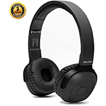 On-Ear Bluetooth Headphones Nee Bee Hi-Fi Stereo Wireless Bluetooth 4.1 Headsets with Smart Pedometer Function and Mic Audio for IOS Android Smartphones Sent Headphone Stand & Headphone Case (Black)
