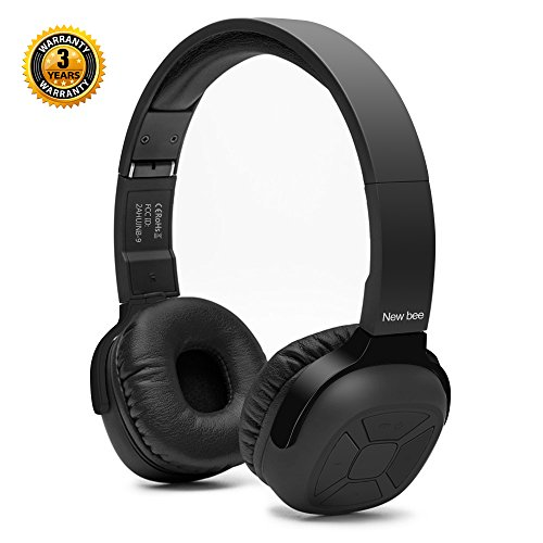 On-Ear Bluetooth Headphones New Bee Hi-Fi Stereo Wireless Bl