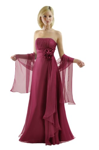 SEXYHER - Vestido - Básico - Sin mangas - para mujer rojo (scarlet)