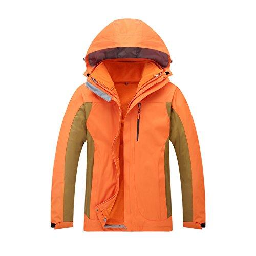Cappotto Di Xxl Colore Giacche Giacca Maniche Cappello Lunghe Cerniera Arancione Solido Uomini m Antivento Fym Donne Dyf vYwUqzYAa
