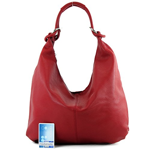 handbag women's Red bag 337 bag Dark bag leather hobo Italian bag BfxORwng