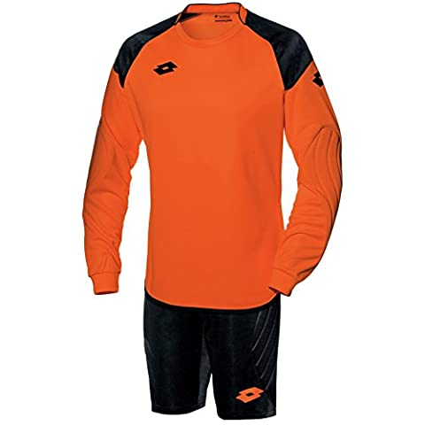 Lotto Childrens Boys Cross Long Sleeve Top And Shorts Goal Keeper Kit (MB) (Fluo Fanta/Black)