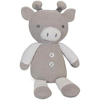 Amazon Com Living Textiles Plush Toy Finn The Giraffe Knitted