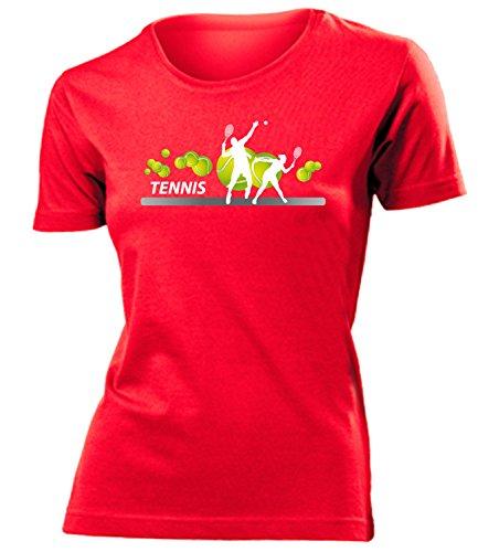 Sport - Tennis Fan - Cooles Fun mujer camiseta Tamaño S to XXL varios colores Rojo